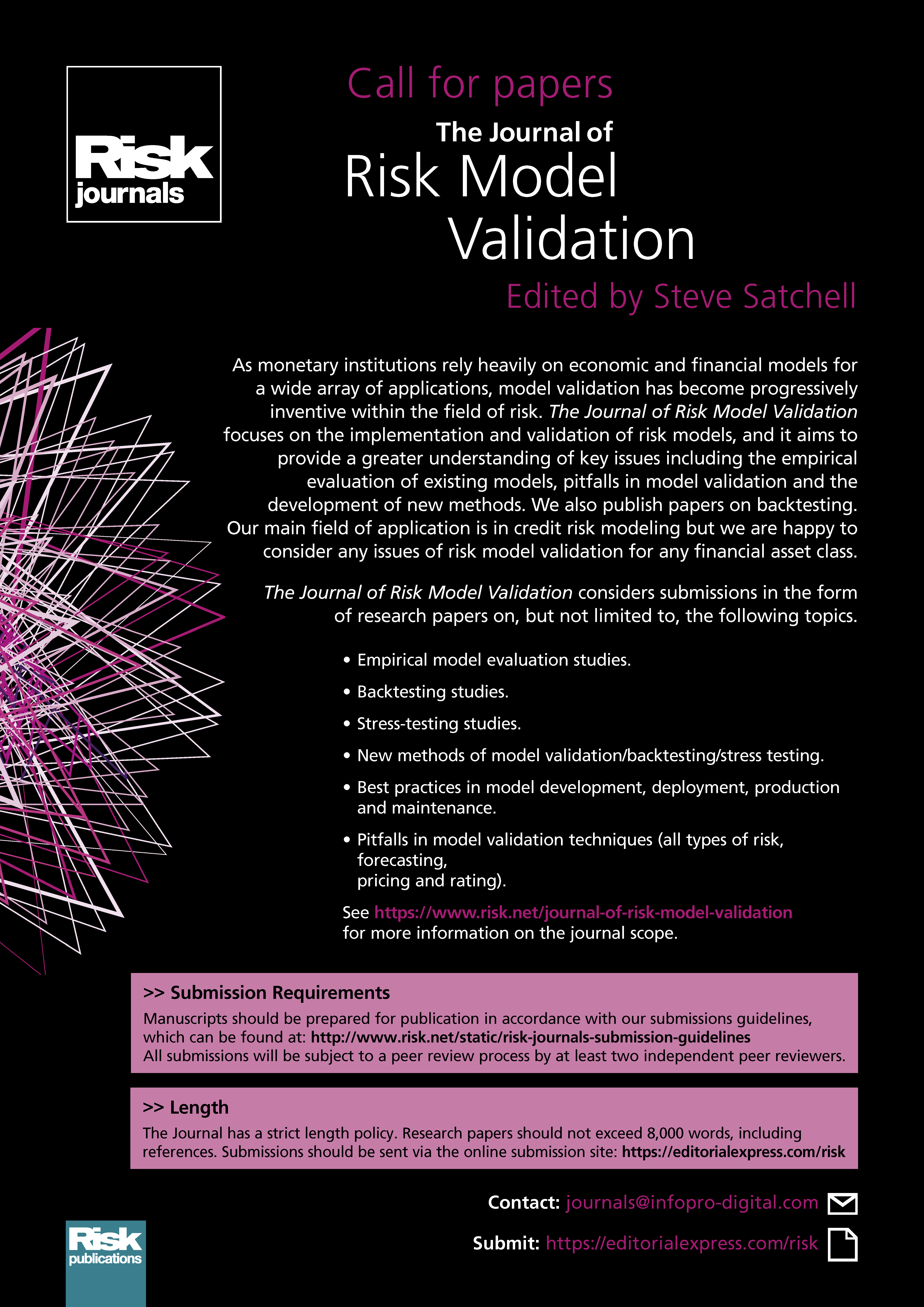 Call for papers - Risk net