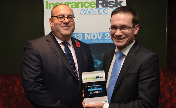 Prudential staff with their Insurance Risk award fpor Reinsurer of the year