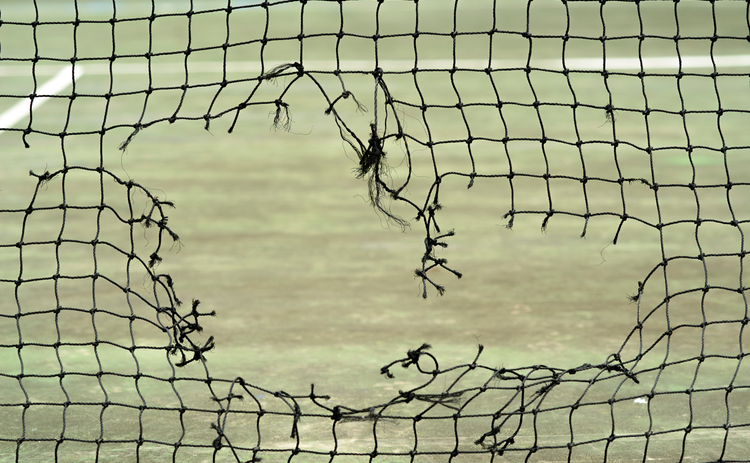 Hole in net