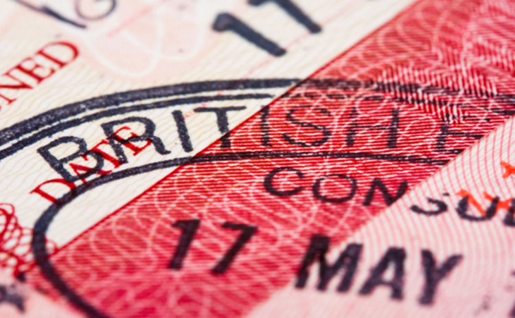 British immigration stamp