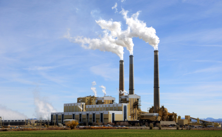 Coal-fired power plant in the US