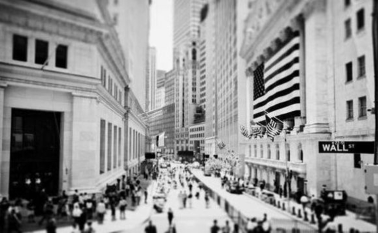 wall street black and white