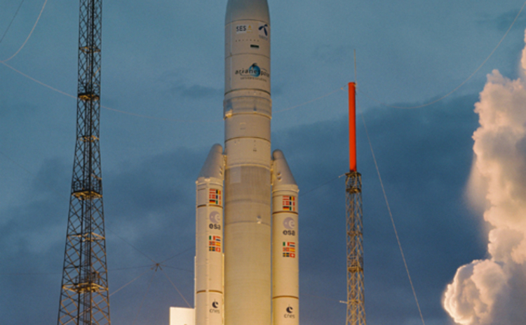 ESA Ariane rocket launch