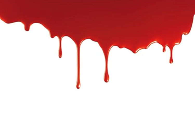 Blood on a white background