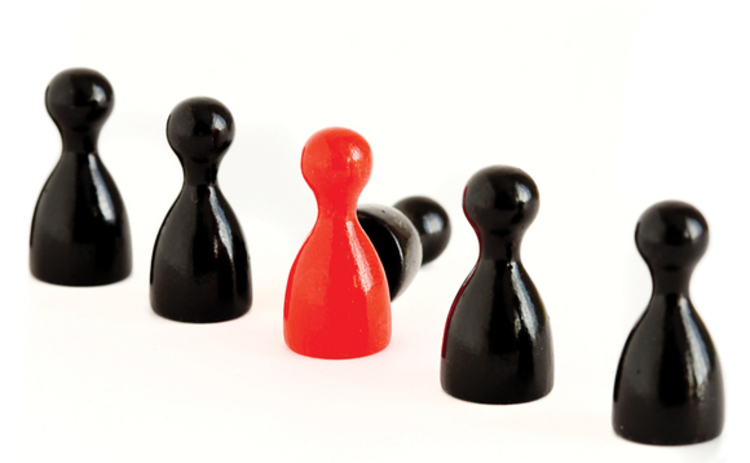 red-black-game-figurines-row