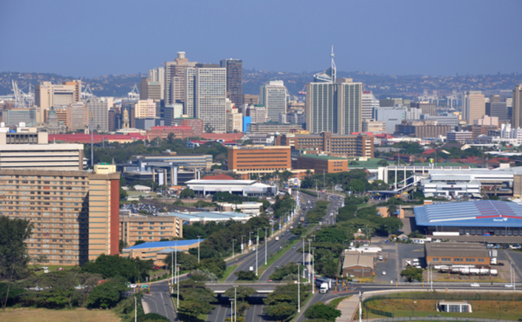 The skyline in Durban in South Africa