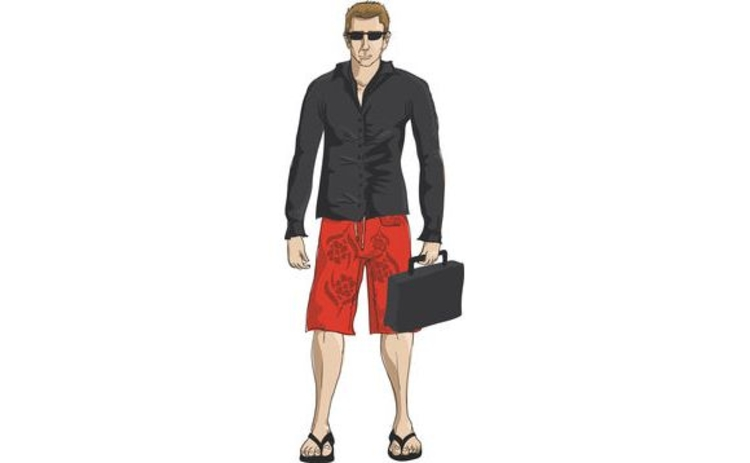 illustration-of-businessman-with-briefcase-in-sunglasses-and-bermuda-shorts