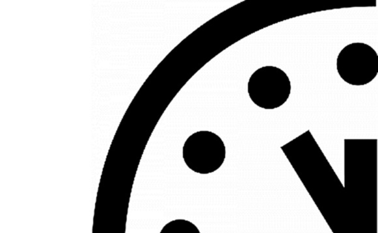 Doomsday clock set at five to midnight