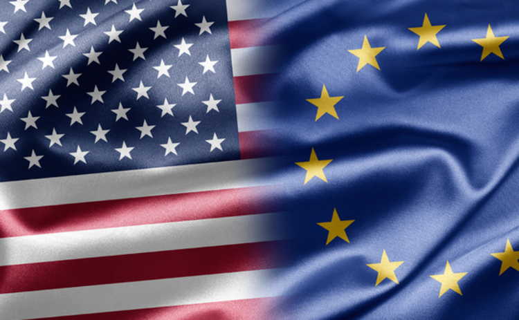 us and eu flags side by side