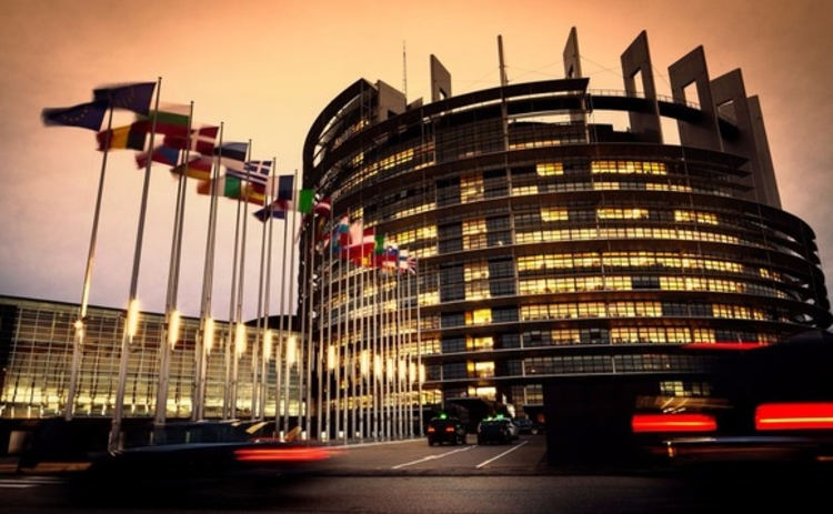 European Parliament building in Strasbourg