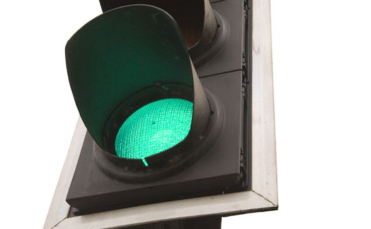 Green light at a traffic light