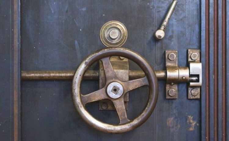 old-safe-vaulted-door-combination-lock