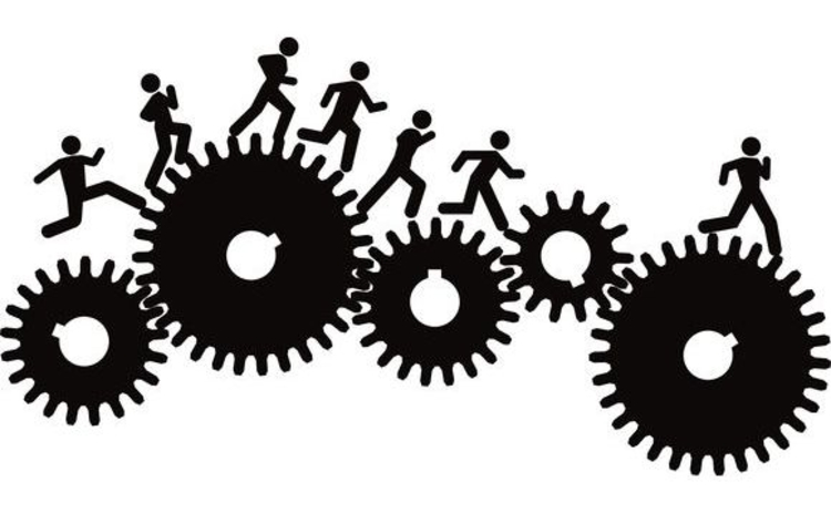 illustration-men-running-on-cogs