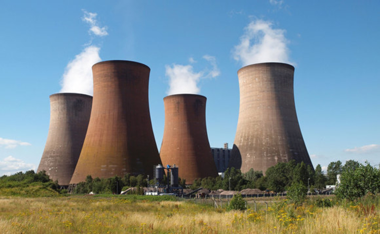 Coal-fired power station in the UK