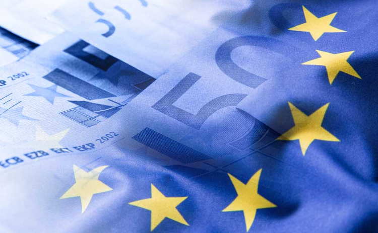 Euro money and flag