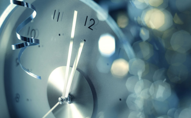 Clock close to midnight at new year