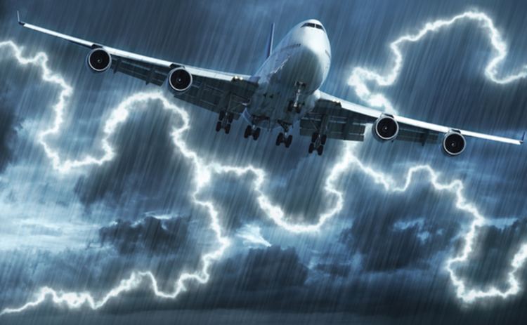 Plane in a storm