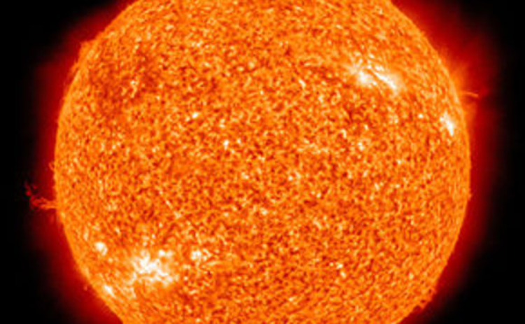 Close-up image of the Sun