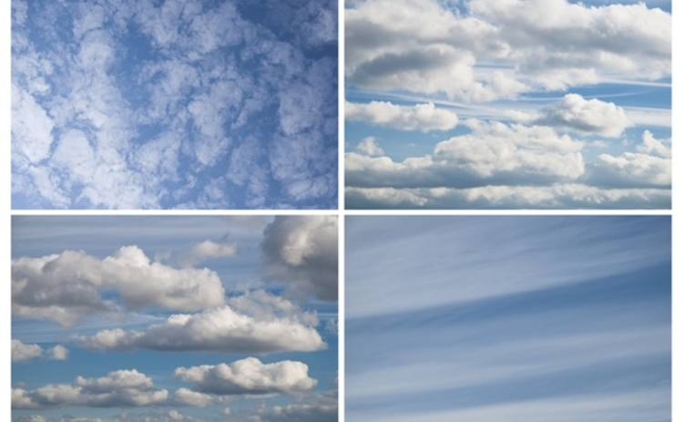 Four types of cloud - Image by Rzs on Stock Free Images & Dreamstime Stock Photos
