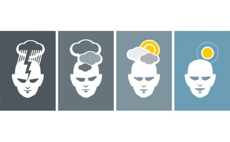 illustration-row-of-four-heads-showing-different-moods-using-weather-symbols